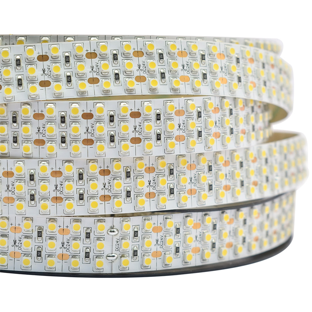 Triple Row Super Bright Series DC24V 3528SMD 1800LEDs Flexible LED Strip Lights, Industrial Lighting, 16.4ft Per Reel By Sale